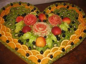 Оригинальная фруктовая нарезка