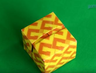 Оригами коробочка для подарка