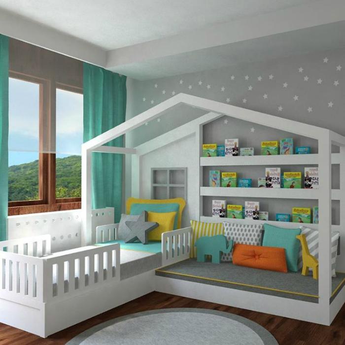 Kinderzimmer gestalten bett