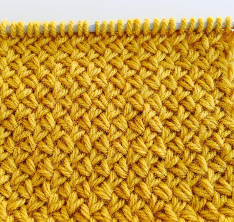 Узор плетенка спицами видео