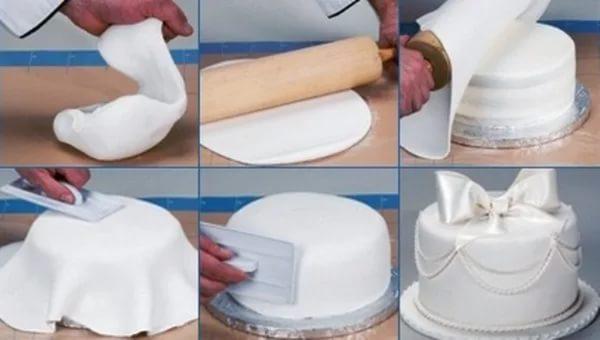 Первый торт из мастики своими руками рецепт с фото 32