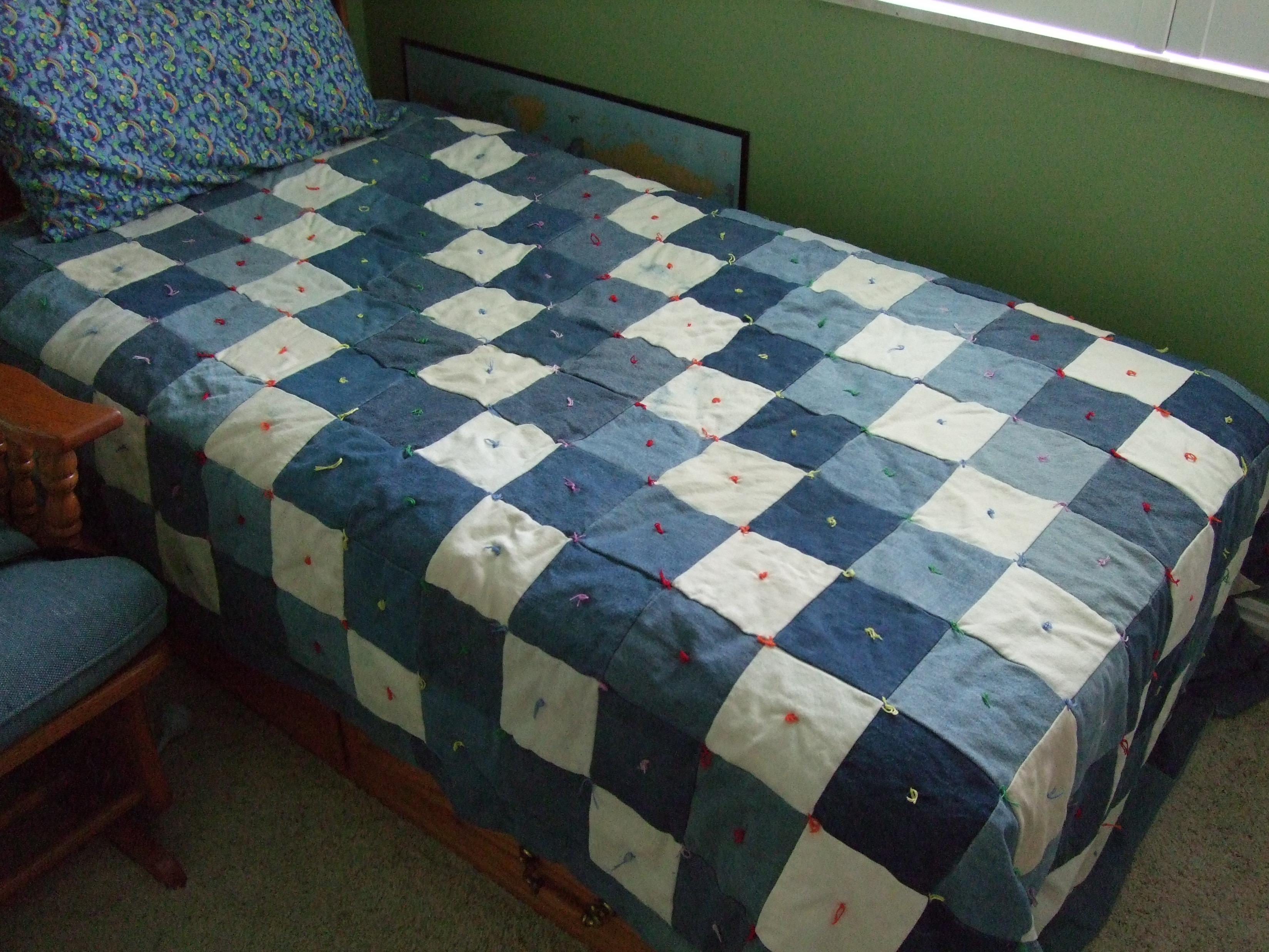 Плед на старый диван своими руками 18