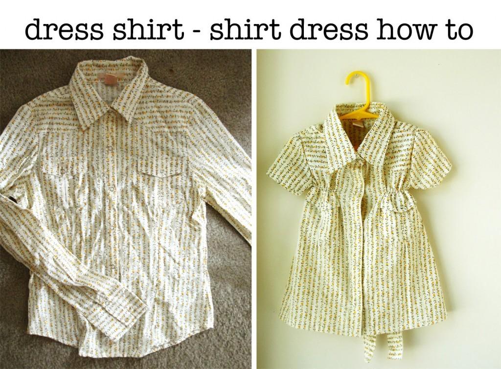 Платье девочке из папиной рубашки