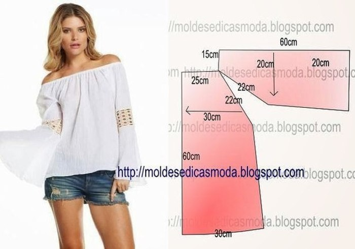 Сшить летнюю блузку быстро