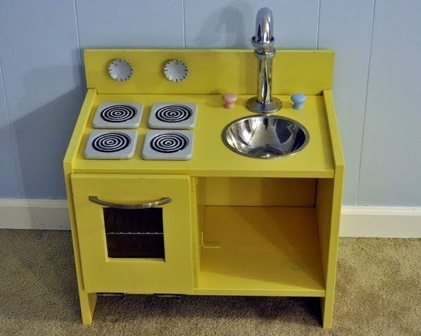 Кухня для дочки своими руками из старой мебели 78