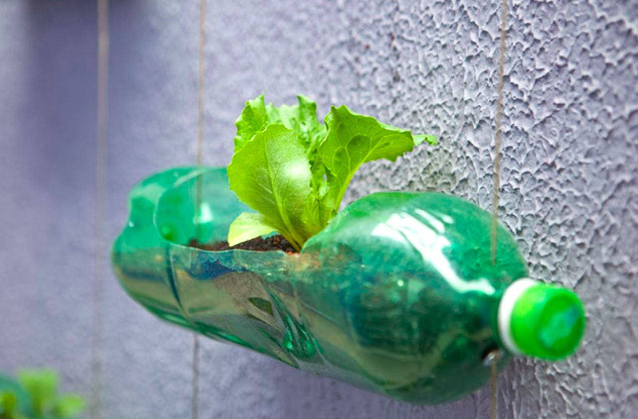 Горшочки для цветов из пластиковой бутылки своими руками