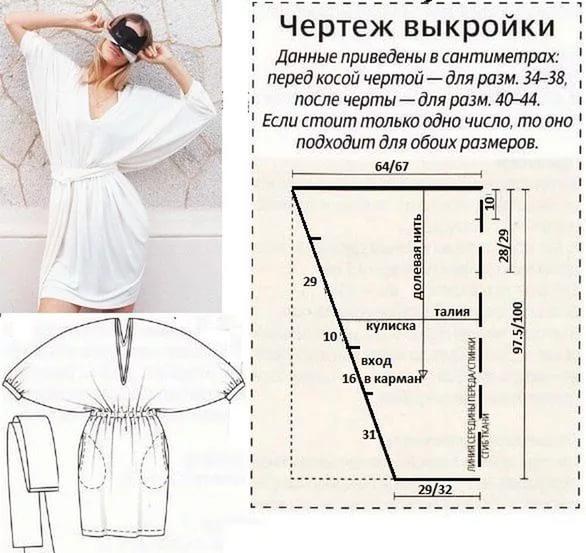 Летнее платьев для начинающих простые выкройки своими руками