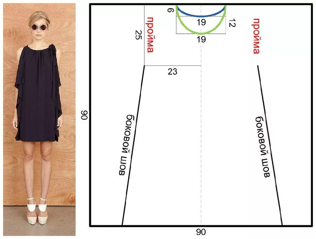 Как сшить легкое платье без выкройки быстро