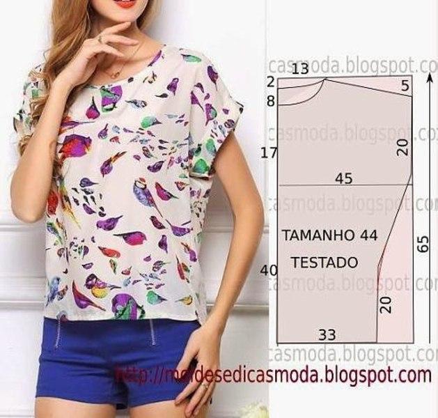 Красивая блузка сшить своими руками