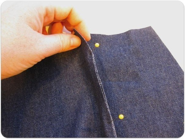 Внутренний шов на джинсах как сделать