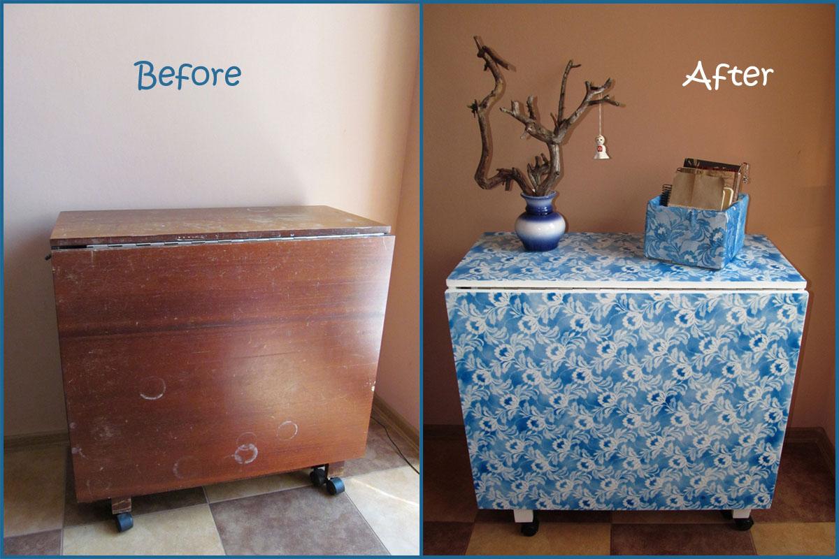 Как украсить старую мебель