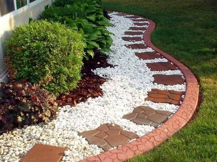 White Rock Bed Landscaping Plants : Landscaping Plants For Rock  with White Landscaping Rocks -