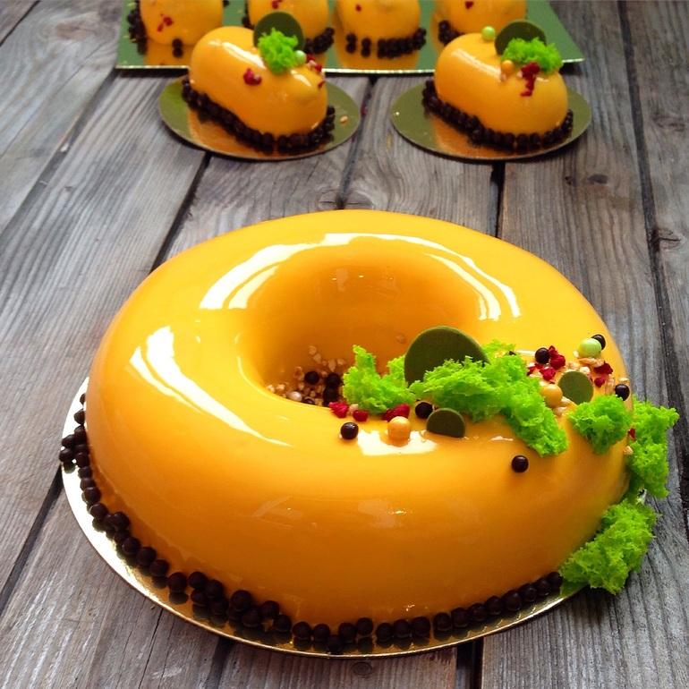 Рецепт торта с зеркальной глазурью с фото