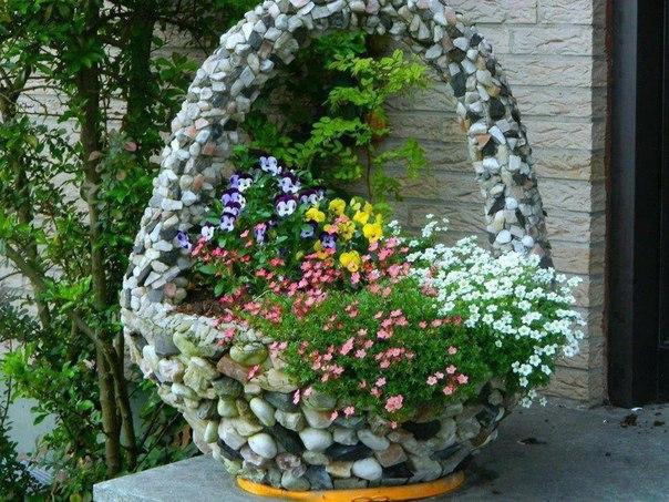 Как сделать цветочную клумбу на даче
