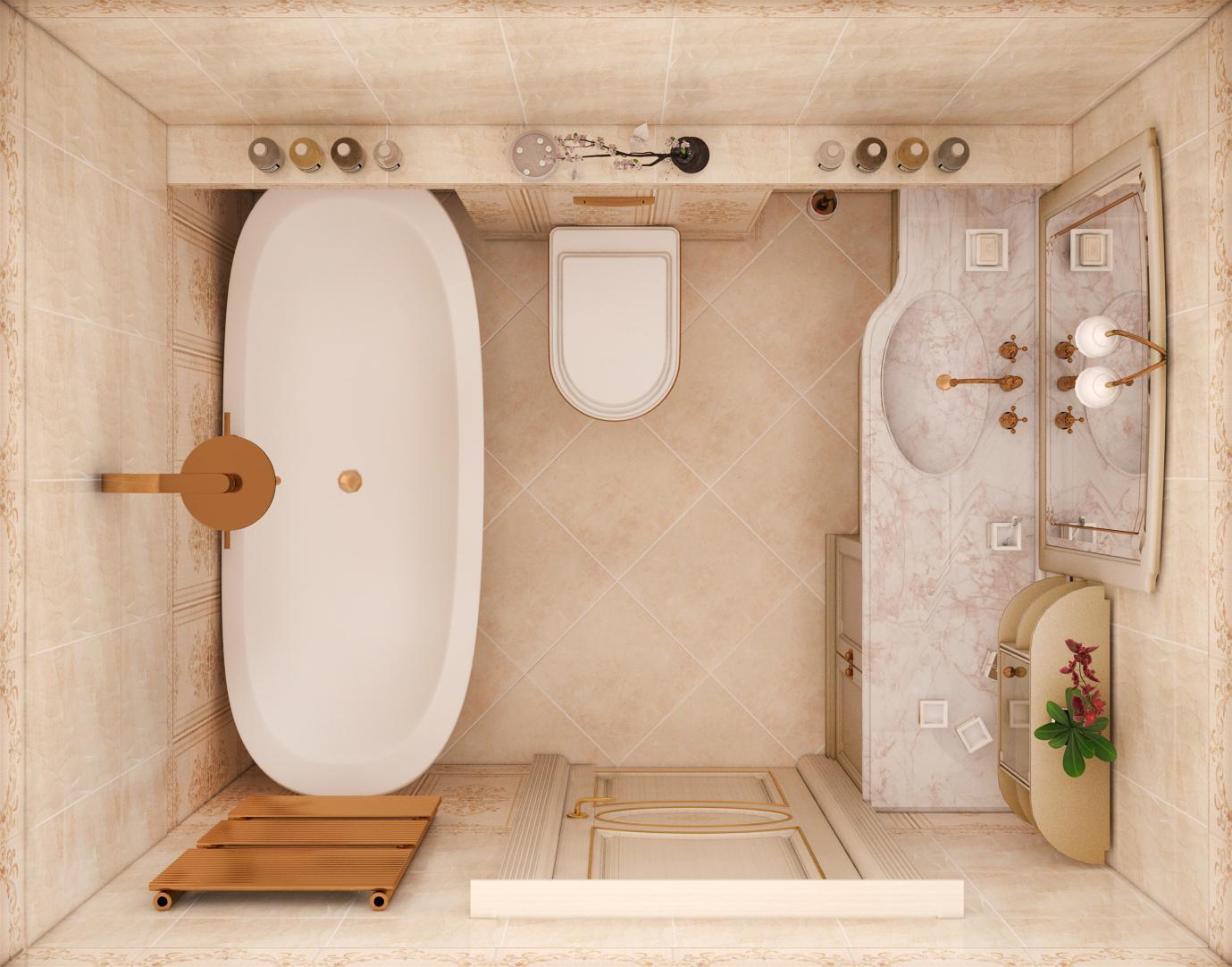Виды дизайна интерьера санузла