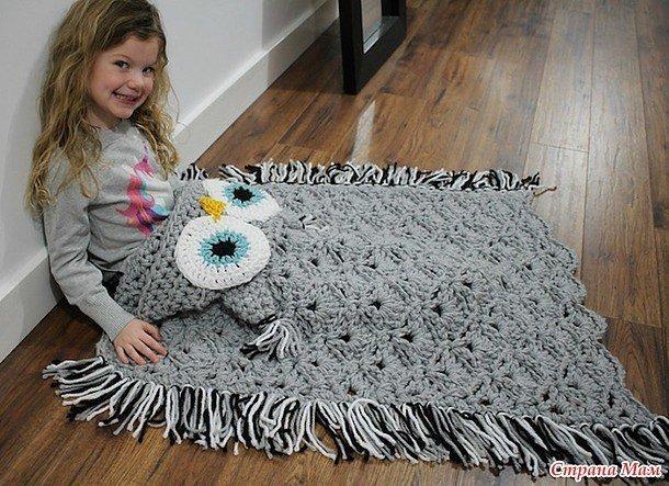 Какую пряжу лучше использовать для вязания пледа малышу 43