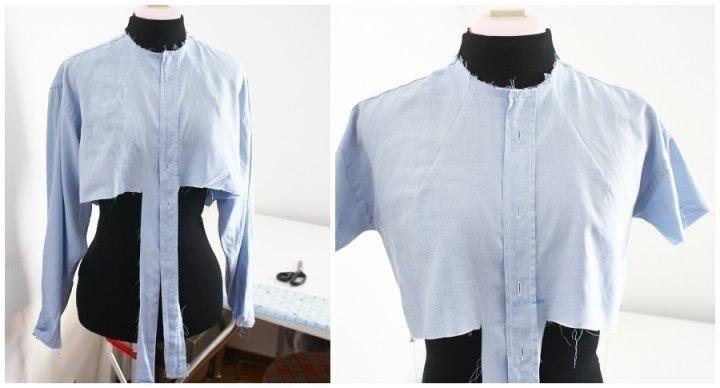 Блузка Из Мужской Рубашки Видео