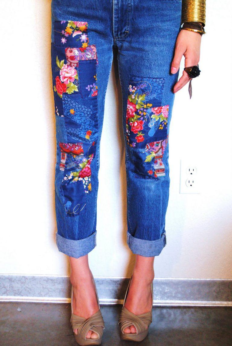 Вышивка джинсы креатив 34