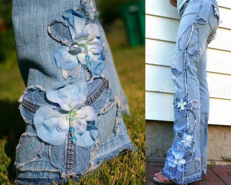 Чтобы украсить старые джинсы своими руками 216