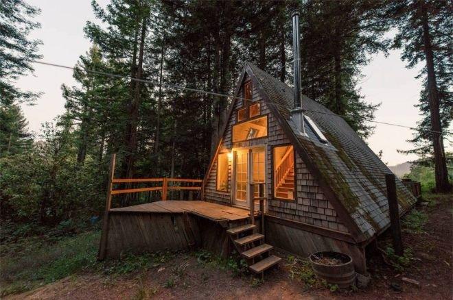 Маленький домик в лесу своими руками 39