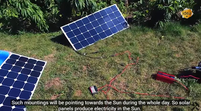 Как сделать солнечную электростанцию своими руками из  929