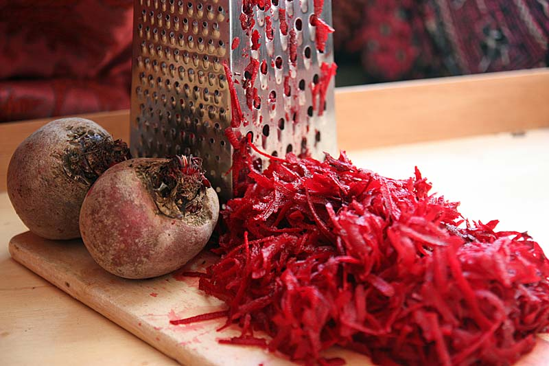 grated-beetroot